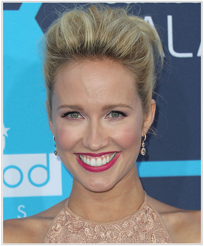 Anna Camp Formal Straight Updo Hairstyle.