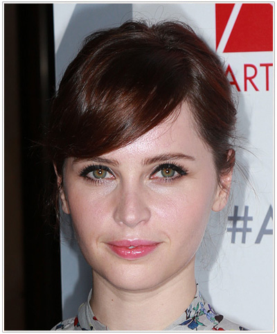 Felicity Jones Casual Updo.
