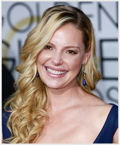 Katherine Heigl Long Curly Hairstyle.