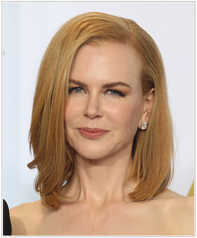 Nicole Kidman Medium Straight Bob Hairstyle.