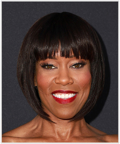 Regina King Straight Bob with Bangs.
