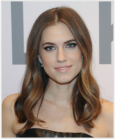 Allison Williams Long Straight Hairstyle.