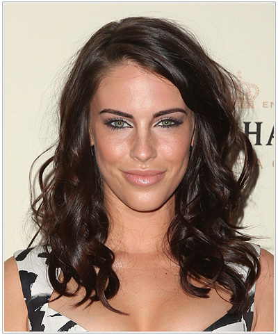 Jessica Lowndes Long Wavy Brunette Hairstyle.