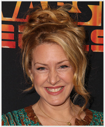 Joely Fisher Casual Updo.