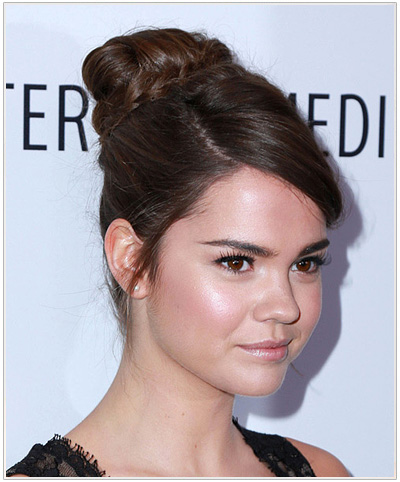 Maia Mitchell Formal Updo Hairstyle.