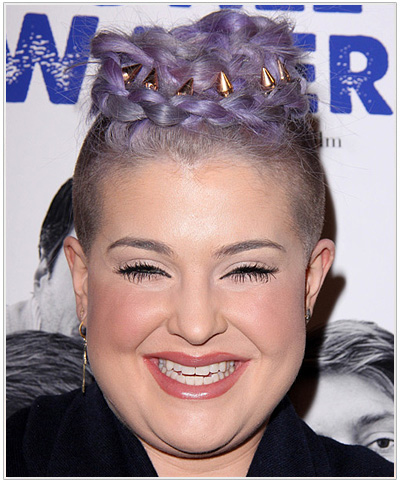 Kelly Osbourne Alternative Wavy Updo Emo Hairstyle.