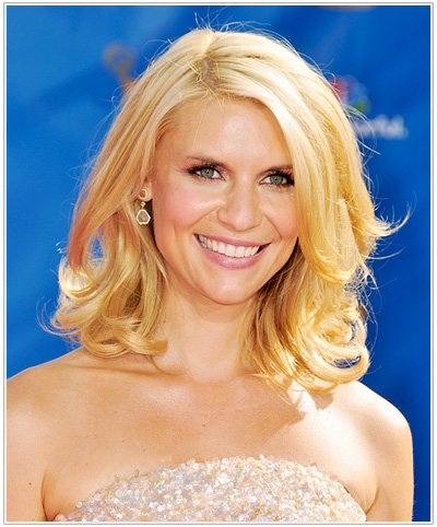 Claire Danes Medium Wavy Hairstyle.