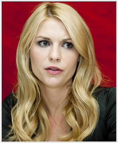 Claire Danes Long Wavy Hairstyle.