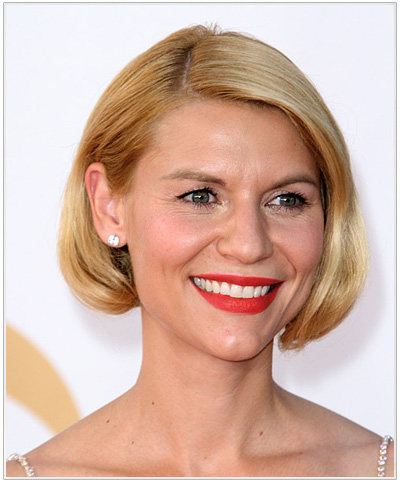 Claire Danes Short Straight Hairstyle.