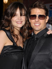Katie Holmes and Tom Cruise hairstyles