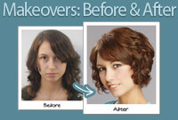 Makeovers before and after side