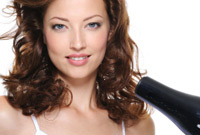 Hair stylist tips blow drying side