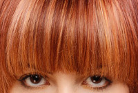 How to style blunt cut bangs side small