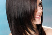 Salon straight hair tips side