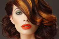 Highlighted hair color rules for a great look side