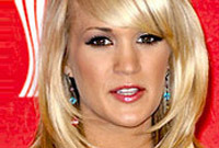 Carrie underwood bangs side