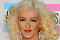 Christina aguilera two tone blonde hairstyle side