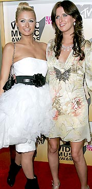 Paris Hilton and Nicki Hilton hairstyles