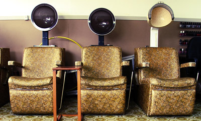 Hair salon inside