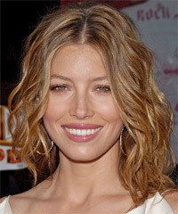 facial hair style medium hairdos in a hurry thehairstyler 1769 | Medium Wavy Jessica Biel