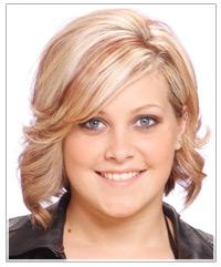 Woman with medium wavy hair