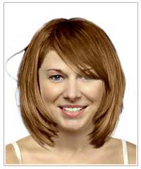 Medium length bob with bangs