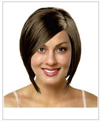 Medium straight bridal hairstyle