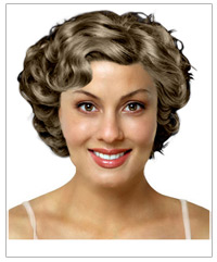 Short waves bridal hairstyle