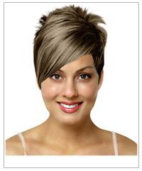 Short straight bridal hairstyle
