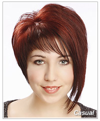 Model with short red alternative hair