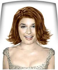 Auburn brown hair color