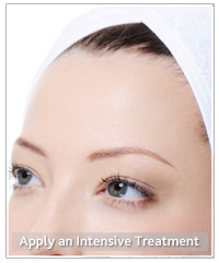 Model with hair treatment