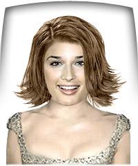 Light hazelnut brown hair color