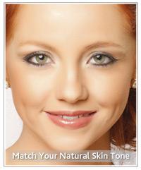 Model cool skin tone