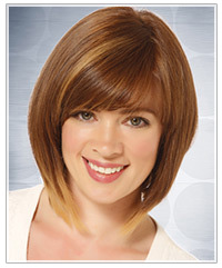 Model with light brown hair