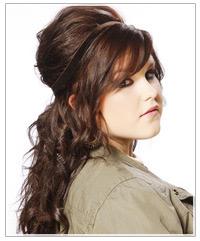 Model with brunette updo