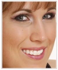 Model with mascara