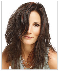 Model with dark hair