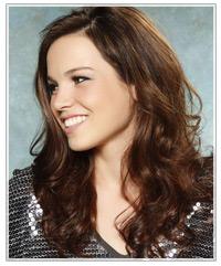 Model with long brunette hair