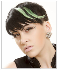 Model with clip in highlights