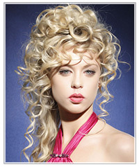 Model with a curly upstyle