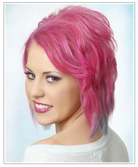 Model with punk pink hair