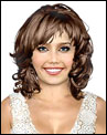 Wavy midlength with bangs