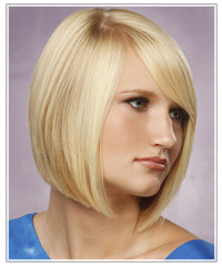 Model with blonde bob
