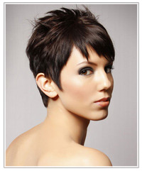 Model with short haircut