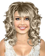Hairstyle with shiny curls