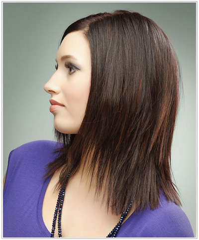 medium chunky layered haircuts chunky jagged layers 4480 | medium smooth blow waved hairstyle