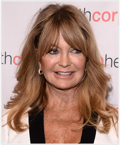 Goldie Hawn\'s Long Hairstyles for Older Women
