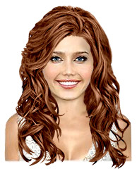 Long wavy copper chestnut hairstyle