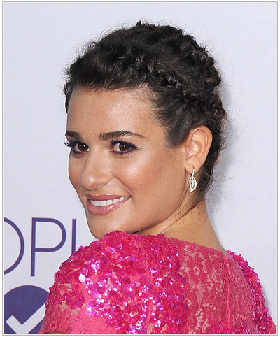 Lea Michele braided hairstyle